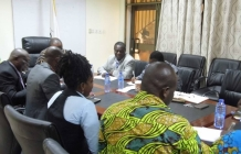 The newly elected executives of the Local Government Workers Union (LGWU) introduced to the LGSS Management